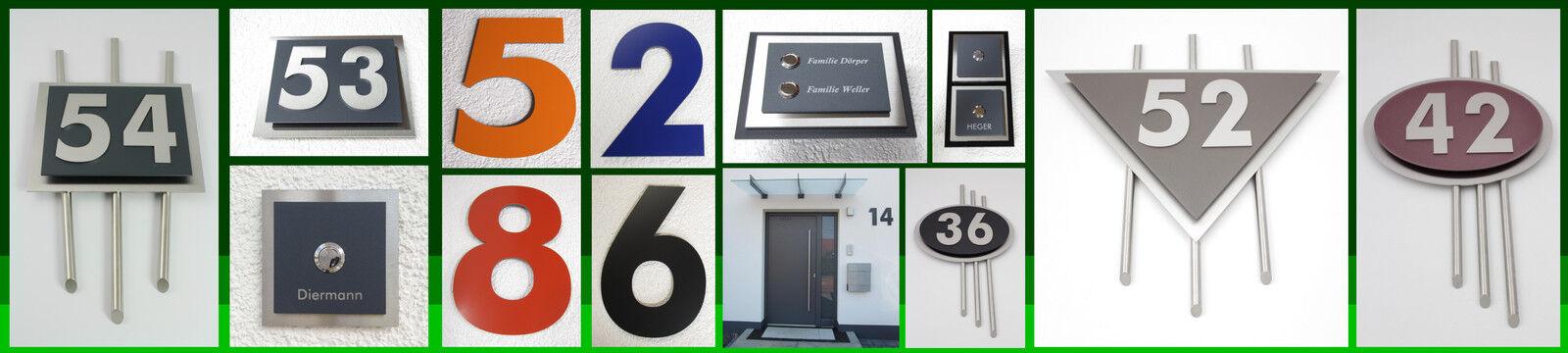 Designer-Hausnummern