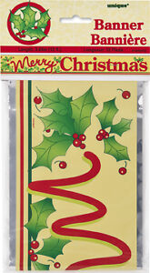 MERRY-CHRISTMAS-GOLD-12ft-Long-Foil-Party-Banner-Christmas-Party-Decorations