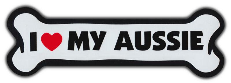 GIANT SIZE!!! Dog Bone Magnet: I Love My Aussie | Cars, Trucks, Refrigerators