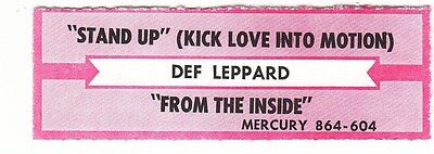 Juke Box Strip DEF LEPPARD - Stand Up (Kick Love Into Motion) / From the Inside