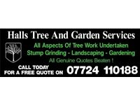 Halls Tree And Garden Services, Tree surgeon, Gardener