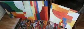 Three Canvass Prints - Approx 22 inches square