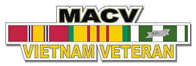 "MACV Vietnam Veteran 5.5"" Window Sticker Decal"