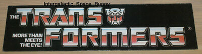 "1984 Hasbro Transformers Original Mobil Hanging Display 15"" x 4"" Wide"