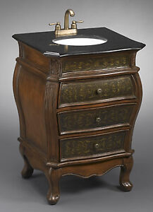 """25"""" Cina Hand Painted 3-drawer Traditional Style Sink Vanity"""