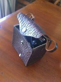 Brownie Box Camera and leather case