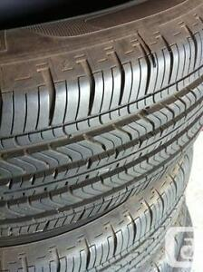 SET OF 3 BRAND NEW ALLSEASON TIRES USED ONLY 1 MONTH 98%