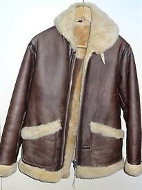Douglas 40inch Chest Brown Fur Lined Pilot (Flying) Jacket