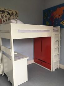 Aspace Farringdon High sleeper with wardrobe and desk