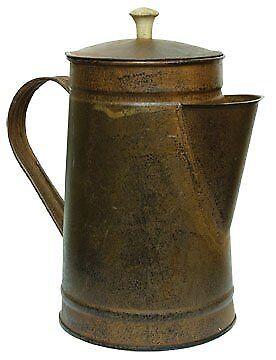 Rusty Tin Metal Coffee Pot Rustic Black Distressing Country Primitive Kitchen