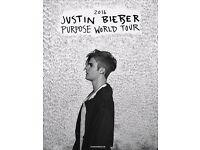 Justin bieber manchester arena 2 tickets standing