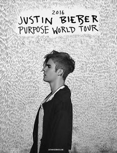 Justin Bieber tickets x2 for sale Ardross Melville Area Preview