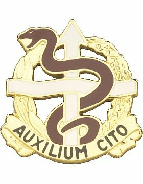 0036 Medical Battalion Unit Crest  Auxilium Cito