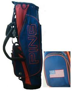 2012-Ping-Golf-Mascot-Custom-Made-Stand-Carry-Bag-Navy-USA-Flag-Very-Rare