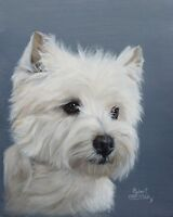Beautiful Custom Pet Portrait painting from a photo