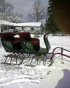 Bobsleigh ready for sleigh rides