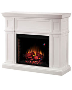 "Twin-Star Electric Fireplace White Frame 40""x42""x13"""