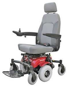 "Shoprider 10"" midwheel motorized adult wheelchair"