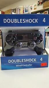 PLAYSTATION 4 DUALSHOCK 4 REPLACEMENT WIRED CONTROLLER - JET BLACK - NEW $39