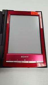 SONY PRS-T1 6 DIGITAL E-INK PEARL EREADER WITH WI-FI (MAGENTA) WITH BLACK SONY COVER - USED $120