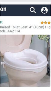 Raised Toilet Seat - for accessibility