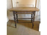 Vintage Table - Ornate Wooden Card Table - Folding Top - £50.00 To Go ASAP