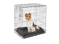 Single Door Dog Crate Small Black