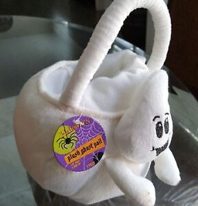 Halloween Plush Ghost Pail for Trick or Treat BRAND NEW