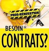 Représentant > Agents - Besoin de contrats? Rénovation et +