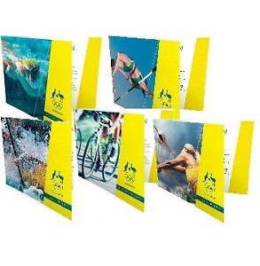 5 X 2016 Rio Olympic Australian Mint $2 Coin Set Folder Lostock Dungog Area Preview