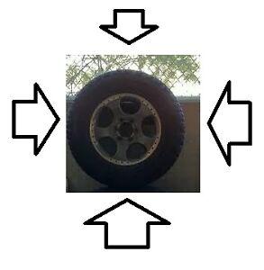 nissan xterra 2002 2003 2004 tire n rim 265/65R17