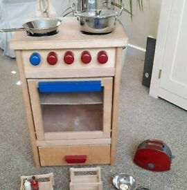 Wooden Kids oven with BOSCH toaster