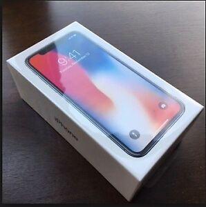 Brand New Sealed IPHONE X  256GB  UNLOCKED 1 YEAR APPLE WARRANTY