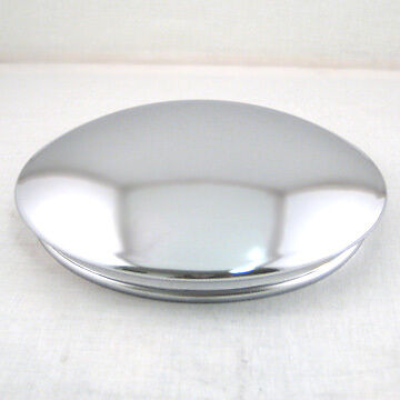 Chrome Reverse Baby Moon Hubcaps For Rally Wheels - Set Of 2