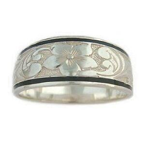hawaiian heirloom jewelry sterling silver 8mm ring