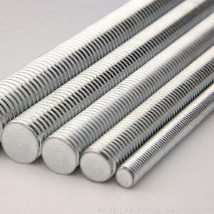 10x All Threaded Rod Diameter 5mm Length 1000mm Zinc Plated