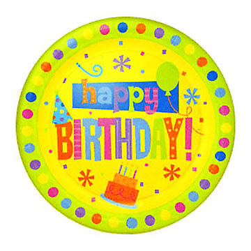 Birthday Fun Dots 9 Inches Dinner Plates Birthday 9' Dinner Plates