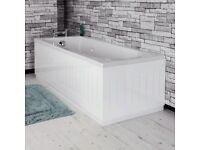 Tongue & Groove Bath Panel White 1700mm Front.... new