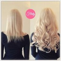 TAPE EXTENSIONS, MICRO LINKS, CLIP IN EXTENSIONS by FLIRTY LOCKS