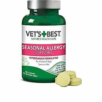 Vet's Best Seasonal Allergy Relief | Dog Supplement | from Dry or Itchy (Best Seasonal Allergy Relief)