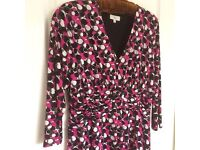 Lady's dress- CC , size large,with matching cardigan