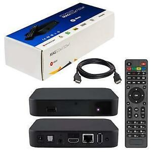 MAG 322 W1 IPTV BOX + IN BUILT WIFI + HDMI CABLE + REMOTE + POWER ADAPTER $120
