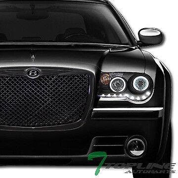Topline For 2005-2010 Chrysler 300/300C Mesh Front Hood Bumper Grill Grille -Blk