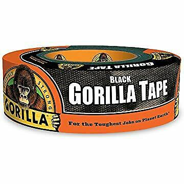 Gorilla Tape 1.88 In. x 35 Yd Black Heavy Duty Duct Tape Waterproof  In/ Outdoor
