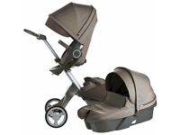 Stokke stroller as new with warranty: brown