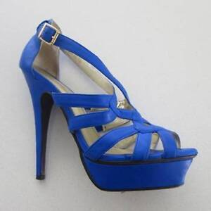 Peeptoe blue heel - worn once - size EU39 Pagewood Botany Bay Area Preview