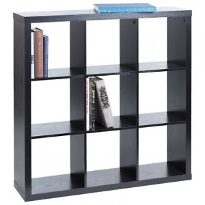 BRAND NEW - NYSTED 9 cube Bookcase (Black)