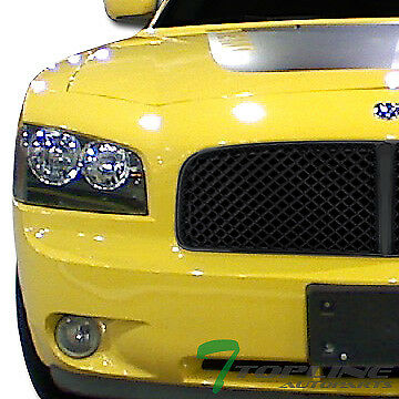 Blk Luxury Mesh Front Hood Bumper Grill Grille Guard Abs 2006 2010 Dodge Charger