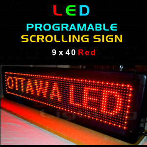 LED Programmable Message Sign - Moving Scrolling Flashing