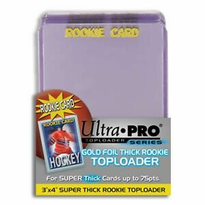 ULTRA PRO THICK TOP LOADERS ... ROOKIE 75 POINT ... bundle of 25